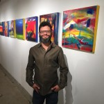 Emerging abstract artist - Nestor Toro at one of his many show events