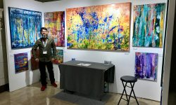 Here is Nestor Toro at The Other Art Fair sponsored by Saatchi art in Los Angeles March 15 to 18th 2018