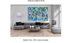 Artfinder gallery recommends Nestor Toro as an abstract artist to invest in with his work increasing nearly 100% (93%) since 2013 - Impressive!